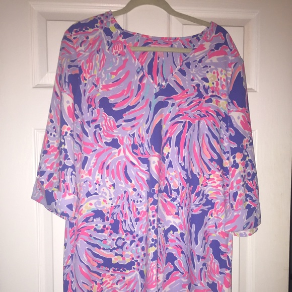 7246299acb0 Lilly Pulitzer Dresses & Skirts - Lilly Pulitzer Shrimply Chic Arielle tunic  dress