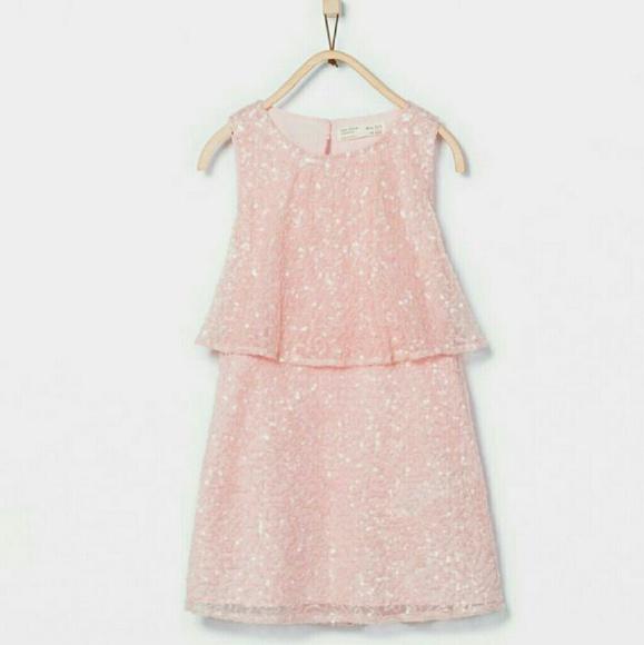 93245d09 ZARA Pink Sequin girls dress. M_57a7c0e6f092821958023c15