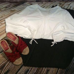 Cato Tops - SZ LG CATO BOHO STYLE TOP IN WHITE