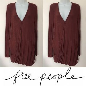 Free People Tops -   Free People   Miss Rose Long and Flowy Blouse