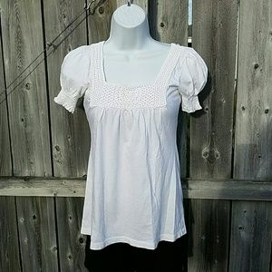 Crochet Trimmed Top by Charlotte Russe