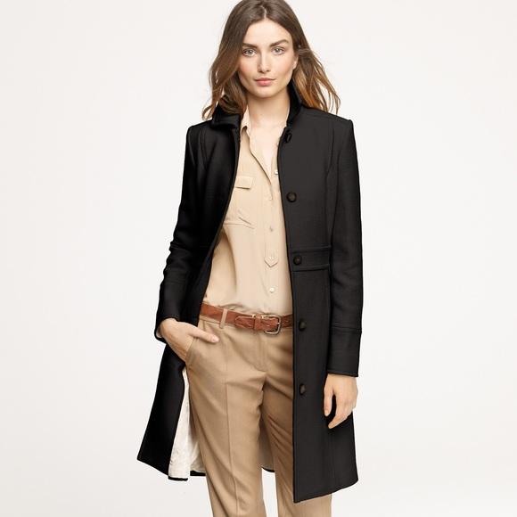 J Crew Jackets Coats Jcrew Double Cloth Lady Day Coat Black