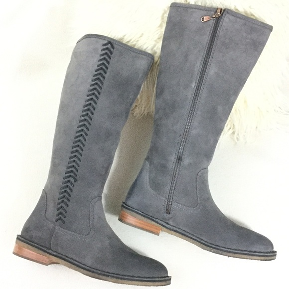 UGG Gray suede tall boots