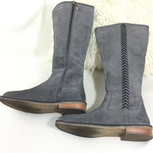 43% off UGG Shoes - UGG Gray suede tall boots from London\'s closet ...