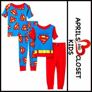 AME Sleepwear Other - ❗️1-HOUR SALE❗️2 Pairs of SUPERMAN Costume PJ SETS