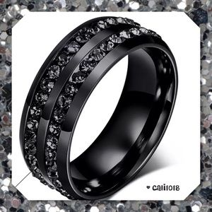 Glam Squad 2 You Jewelry - JUST IN🆕Black Onyx Double Crystal Stainless Steel