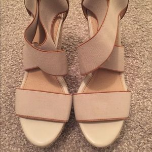 Mossimo Supply Co. Shoes - Tan and brown wedges!