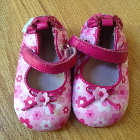 28% off Robeez Other - Robeez Mini Shoez Pink Floral Mary ...