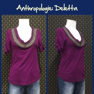 """Anthro """"Jewelscape Tee"""" by Deletta"""