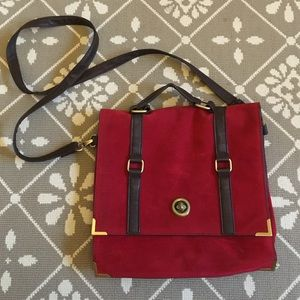 Gorgeous Suede Messenger Bag