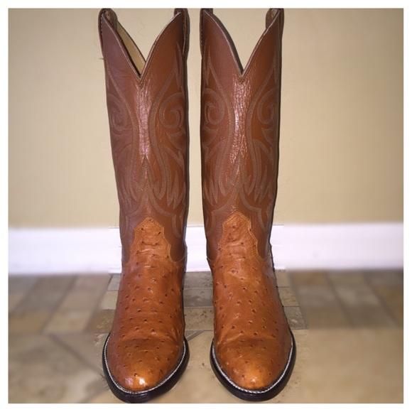 bd5cd34e54e FINAL $ Nocona Full Quill Ostrich Skin Boots USA