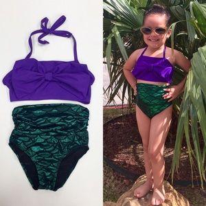 MERMAID High Waisted 2 Piece Swimsuit