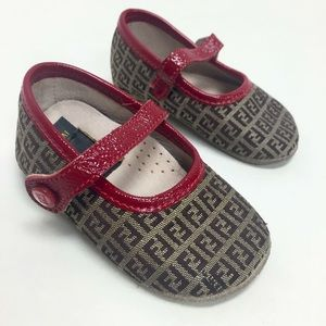 FENDI Monogram Baby Shoes