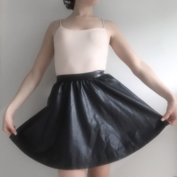 H&M Skirts - H&M Black Leather Skirt