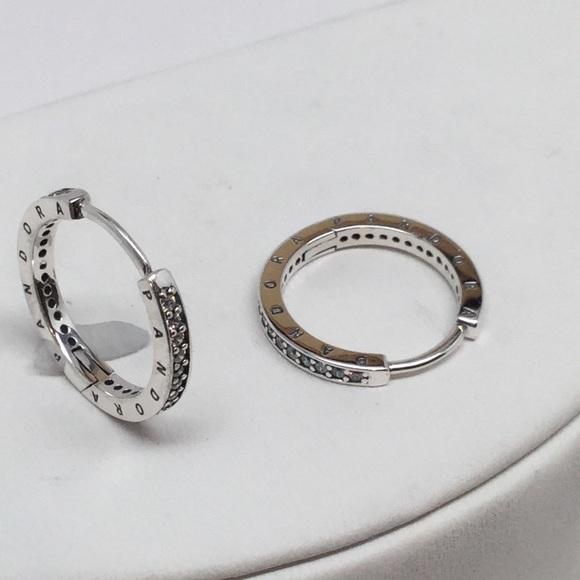 Pandora Hoop Earrings: New Pandora Signature Hoop
