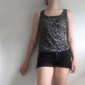 Charlotte Russe Tops - Charlotte Russe Cheetah Tank Top