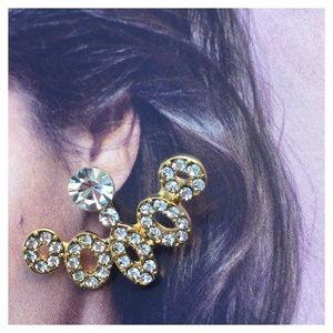Gold Fan Stud Earrings