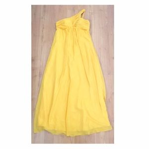 Dresses & Skirts - One-Sided Shoulder Dress in Spring Yellow