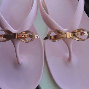 b3580c7e8 Ted Baker Shoes - Ted Baker Heebei jelly slim flip flops light pink