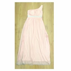 Dresses & Skirts - One-Sided Shoulder Dress in Pink