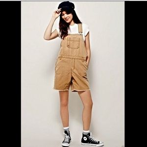 Free People X Dickies oversized tan Overalls S