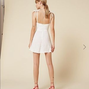 ce977a3bb17 Reformation Dresses - Reformation white tie strap summer dress