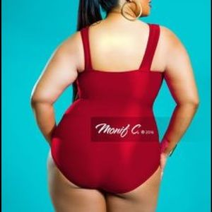8bafc0deaff3d Monif C. Swim - Monif c Havana bandage swimsuit red size 20