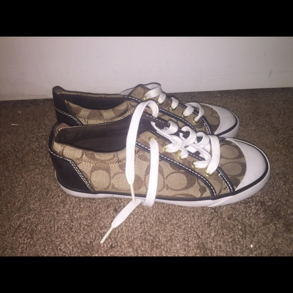 80 coach shoes brown coach tennis shoes from