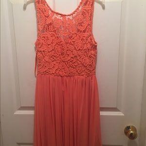 Angel Biba Dresses & Skirts - ANGEL BIBA Crochet Lace Bodice Tulle Dress
