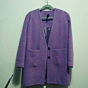Topshop boutique purple wool coat | trendy voilet