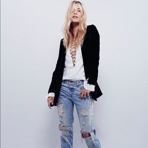 Free People Yesterday's Muse Velvet Jacket