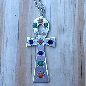 Vintage Jewelry - Sterling silver ANKH pendant