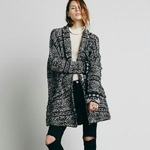 Free People Oversized Boyfriend Cardigan