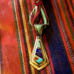Old Pawn Navajo Jimmy Secatero Inlay Pendant