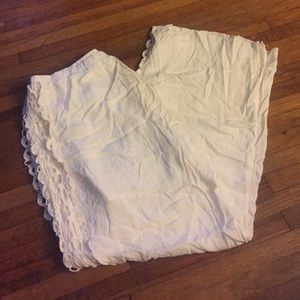 All White Wide Legged Pants