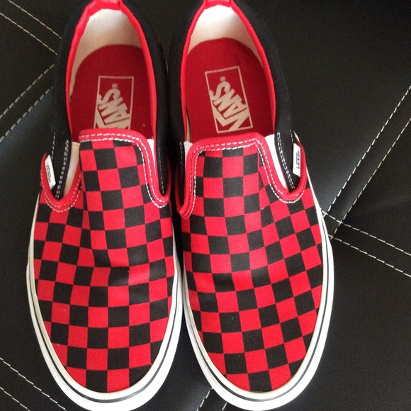 a8f66b259209c3 Formula One checkerboard VANS CLASSIC SlipOn Shoes.  M 57a807747fab3a94090304a2