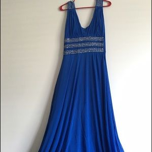 Dresses & Skirts - New Blue Maxi Dress With Silver Work