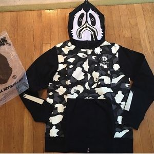 6bef15551fef bape Jackets   Coats - bape glow in the dark panda full zip up