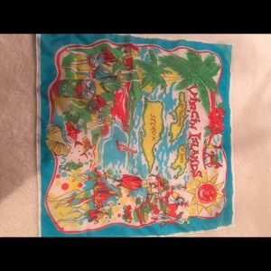 Vintage  Accessories - Vintage Virgin Islands Scarf