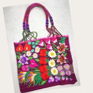 🌹HP🌹New Boho Floral Embroidered Handbag Tote Bag