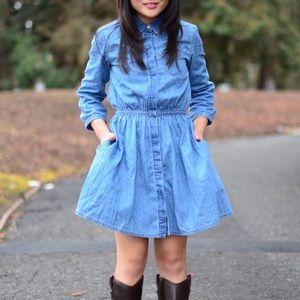Levi's Dresses & Skirts - New Levi's Chambray Denim Long sleeve shirt dress