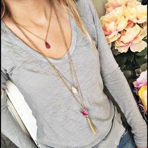 New York & Company Jewelry - NWT NY&Co 3-Strand Hamsa Boho Necklace