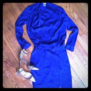 Diane von Furstenberg Dresses & Skirts - Diane von Furstenberg Royal Blue Silk Dress, Small