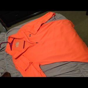 Under Armour Tops - Bright Orange Under Armour 3/4 Zip Jacket