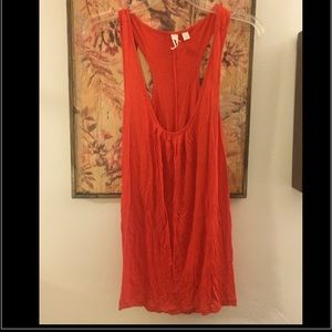 NWOT ANTHROPOLOGIE RED RACER BK TUNIC TANK TOP M L