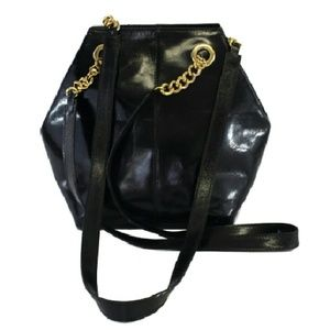 Cristiani Handbags - Cristian- Black Leather Shoulder Bag