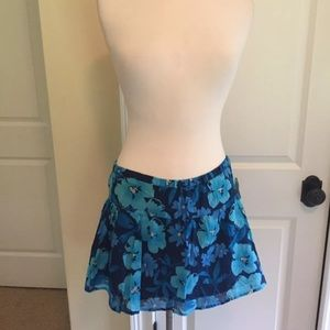 Summer lined Aeropostale skirt NWT blue L