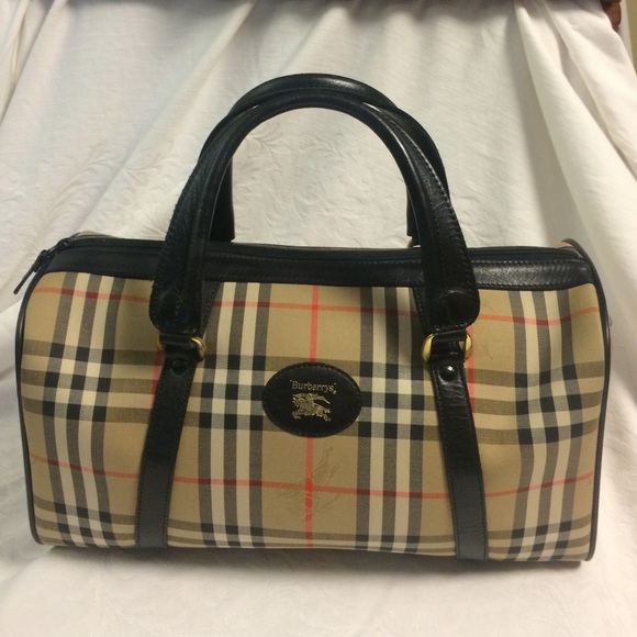 Burberry Handbags - Vintage Burberry blue label mini Boston satchel d53805e5a9395