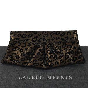 Lauren Merkin Handbags - LAUREN MERKIN LEOPARD PRINT CLUTCH