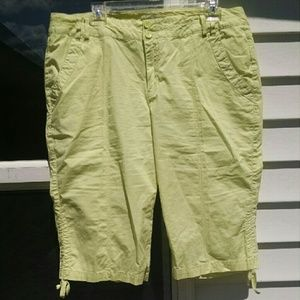 Pants - NWOT Light Lime Bermuda Shorts